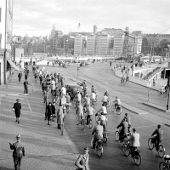 Cyklister i Slussen