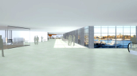Bussterminal med panoramavy