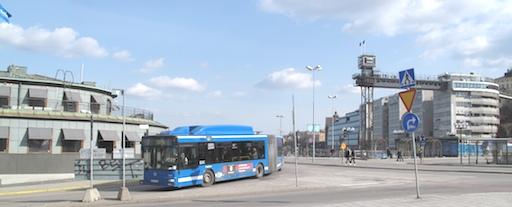 Buss linje 2 rundar Kolingsborg